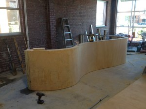 The frame is complete, we officially have a bar. Yay!